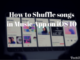 How to Shuffle songs in Music App on iOS 10