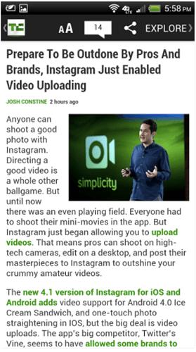 Techcrunch app