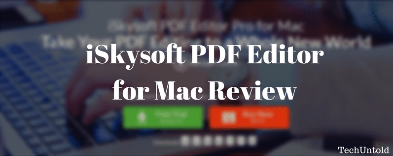 iskysoft pdf editor for mac review