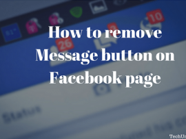 How to remove Message button on Facebook page