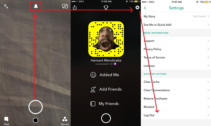 Download Snapchat stories friends without notifying them