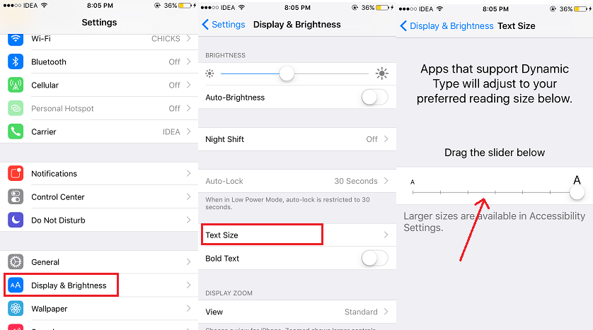Change Font Size on WhatsApp iPhone