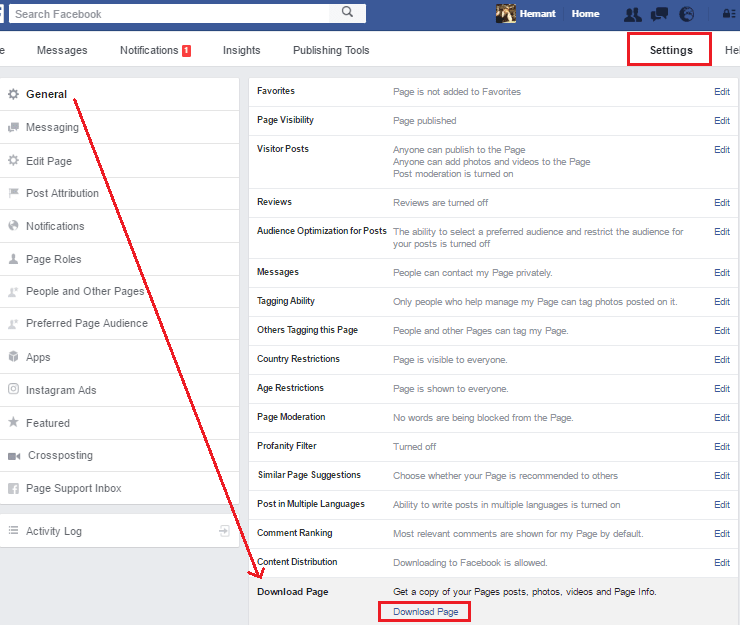 How to download Facebook page posts, photos, videos, Info and more