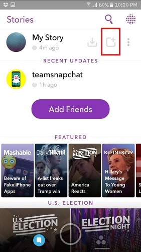 how to make a snapchat story with multiple pictures