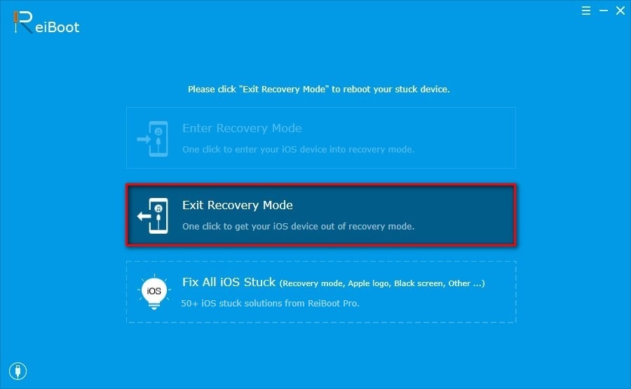 How to get iPhone out of recovery mode