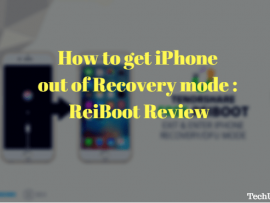 How to get iPhone out of Recovery mode : ReiBoot Review