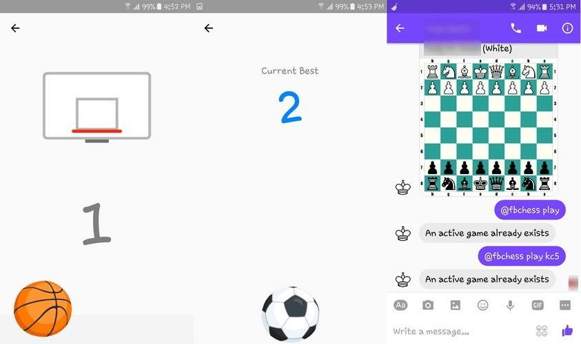 Facebook Messenger Hidden Games