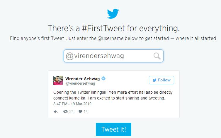 Find Anyone First Tweet