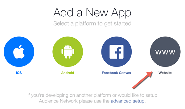 Get Facebook App ID and App Secret