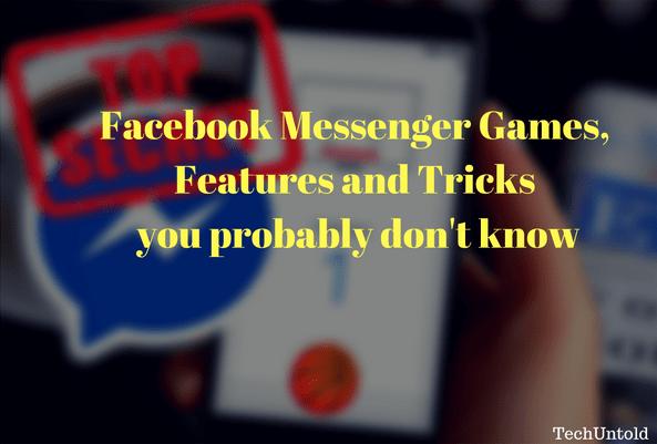 hidden facebook messenger games tricks features
