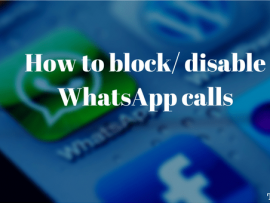 How to block/ disable WhatsApp calls