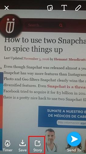 Create Snapchat Stories