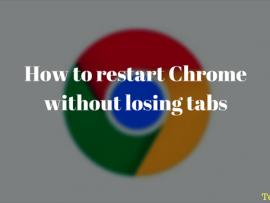 How to restart Chrome without losing tabs with a bookmark