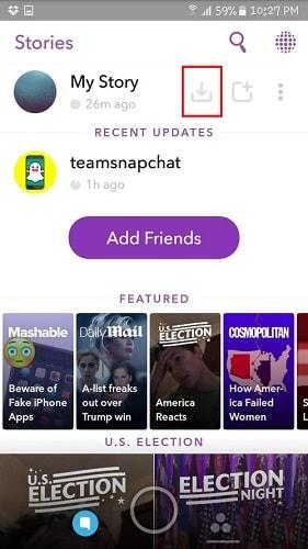 saving your snapchat story