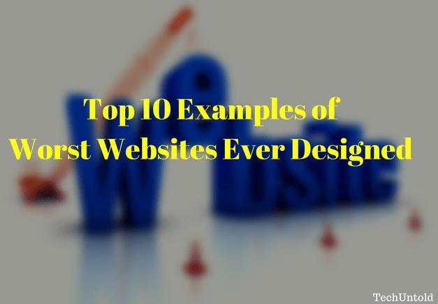 Worst Websites ever designed