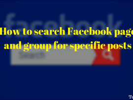 How to search Facebook page and group for specific posts