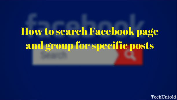 Search Facebook page and group for posts