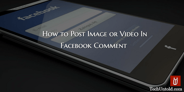 Post Image or Video in Facebook Comment Thread