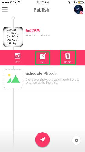 Edit Scheduled Instagram posts