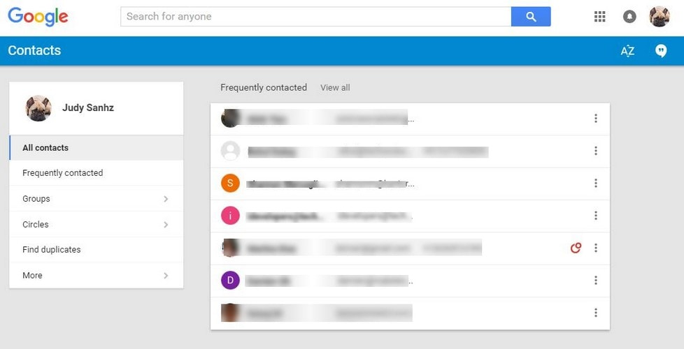 Erase Duplicate from Google Contacts