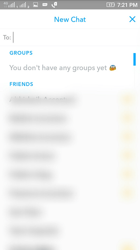 How to create Snapchat Group