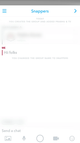 How to use Snapchat Group chat