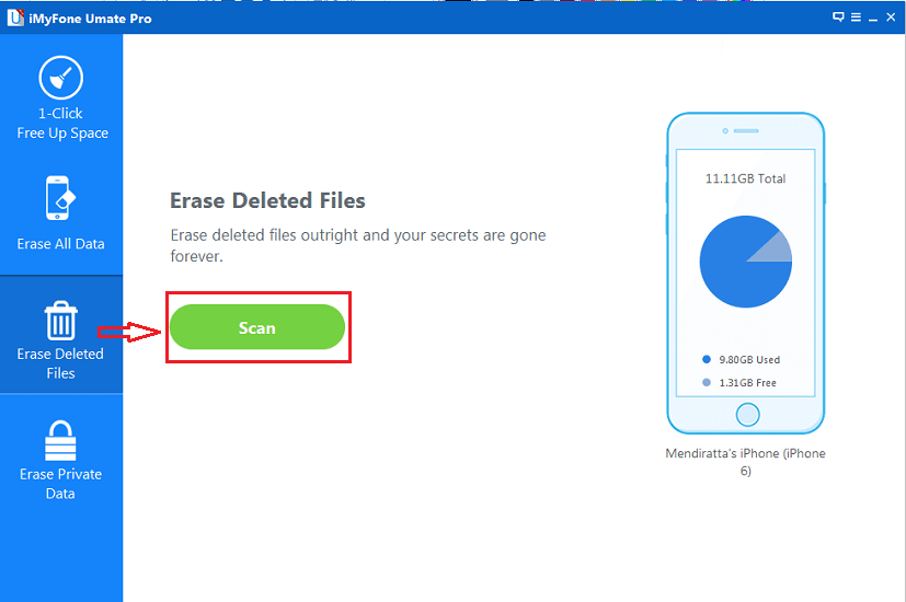 Permanently Erase Deleted data on iPhone