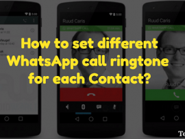 How to set different WhatsApp call ringtone for each Contact