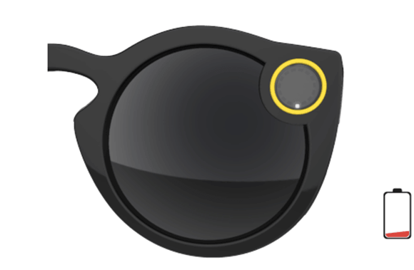 Snapchat Spectacles when battery is low
