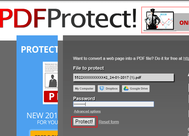 Set Password For PDF Document Online Free