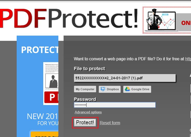 Set Password For PDF Document Online Free