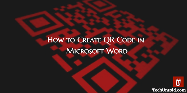 Create QR code in MS Word