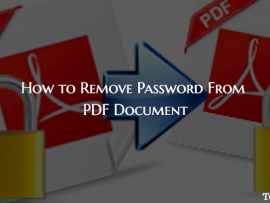 How to Remove Password From PDF Document Without Software
