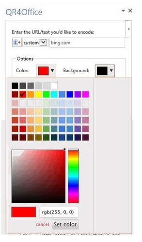 How to Add Color to a QR Code in MS Word