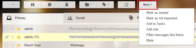 Keyboard Shortcuts on Gmail