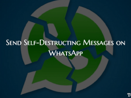 How to Send Self-Destructing Messages on WhatsApp(iPhone/Android)