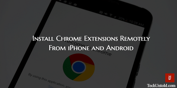 Add Extensions to Chrome Desktop from Chrome app
