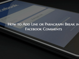 How to Add Line or Paragraph Break in Facebook Comments