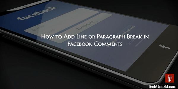 Add line break in Facebook comments