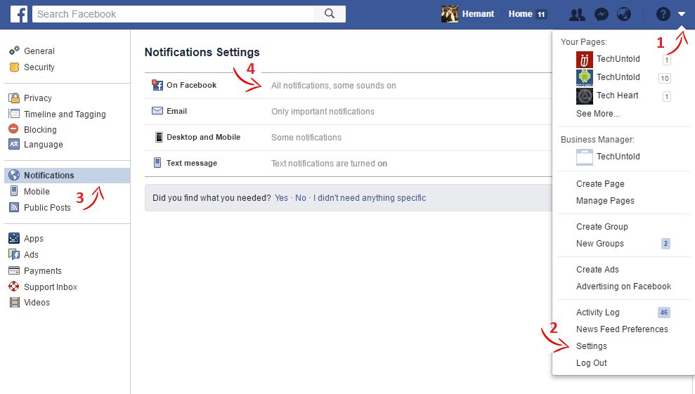 Enable Facebook Birthday Notifications