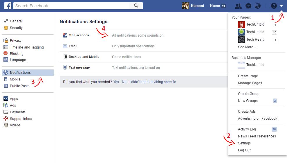 Enable Facebook Birthday Notifications