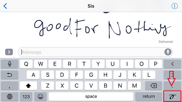 Send Handwritten Message on  iPhone