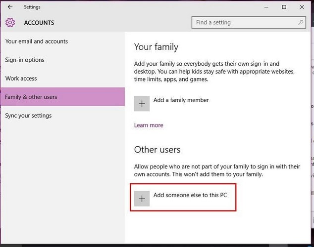 How to Add New User in Windows 10 Computer
