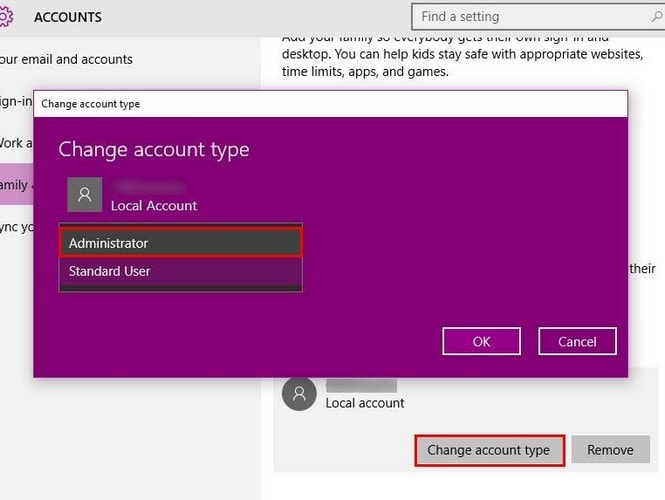 How to Give a Windows 10 Account administrative privileges