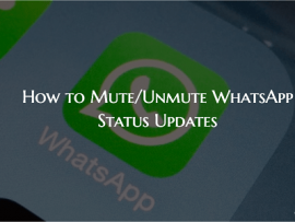 How to Mute/Unmute WhatsApp Status Updates of Contacts
