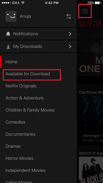 Netflix Offline Viewing