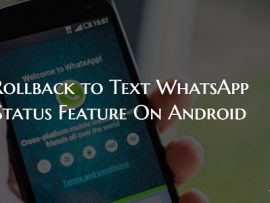 How to Get Old WhatsApp Status Feature on Android
