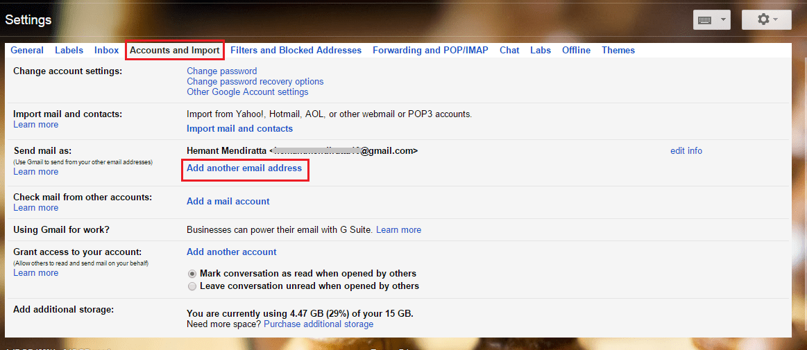 Send Email From Other Addresses in Gmail