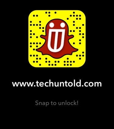 Snapcode for Techuntold.com