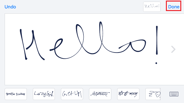 Enable Handwritten Messages on iOS